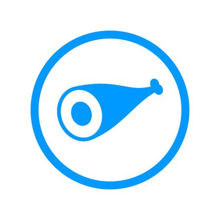costillas de cerdo: Meat icon Flat design style