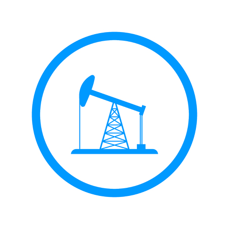 natural resource: Oil Rig Icon. Flat design style