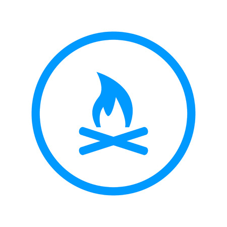 Vector Illustration of a Fire Icon. Flat design style