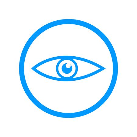 eye icon: Eye icon. Flat design style eps 10 Illustration