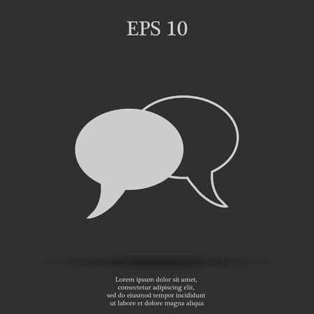 html5: Speech bubbles icon. vector illustration  EPS 10 Illustration