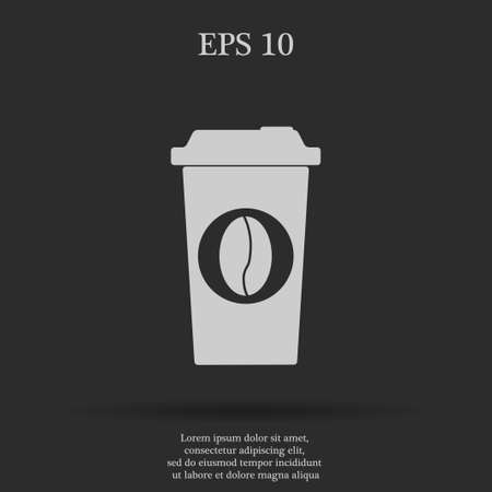 long bean: paper coffee cup. Flat design style eps 10