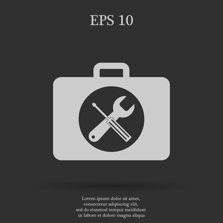 toolbox: Toolbox vector icon. Flat design style eps 10