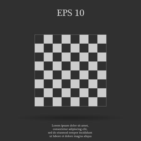 木のチェス盤です。フラット ビューの上から。  イラスト・ベクター素材