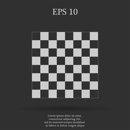 chess board: wooden chess board. flat view from top. Illustration