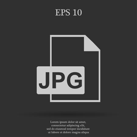 jpg: Jpg icon file vector. Flat design style eps 10 Illustration