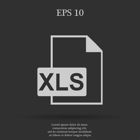 bibliography: xls icon. Flat design style eps 10