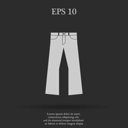 breeches: Pants icon. Vector flat Illustration EPS 10 Illustration