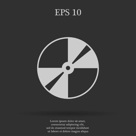 Vector CD or DVD icon. Flat design style eps 10 Illustration