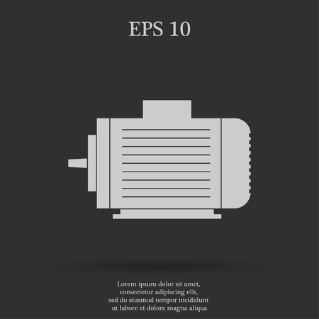 industrial design: Electric motor icon, Vector flat Illustration EPS Illustration