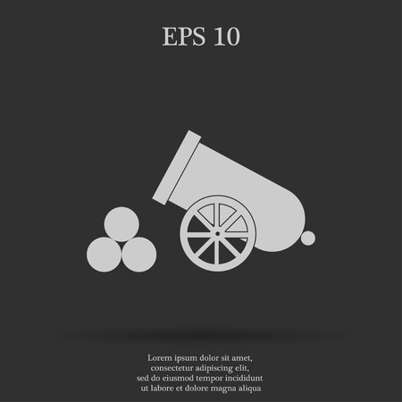 armament: retro cannon Flat design style eps 10 Illustration