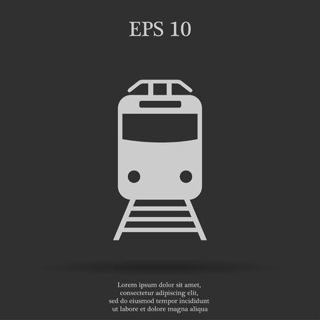 highspeed: Train icon, isolated vector eps 10 illustration