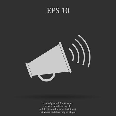 urgent announcement: Megaphone icon. Flat design style eps 10 Illustration