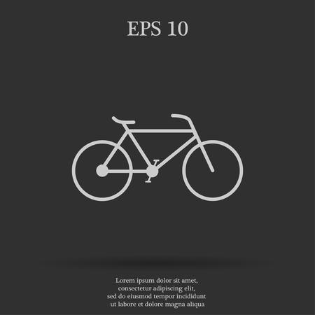 bicycle: Minimalistic bicycle icon. Vector, EPS 10 illustration Illustration