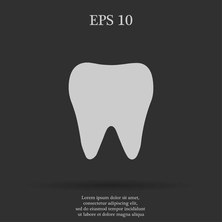 mouth pain: Tooth Icon. Flat design style eps 10