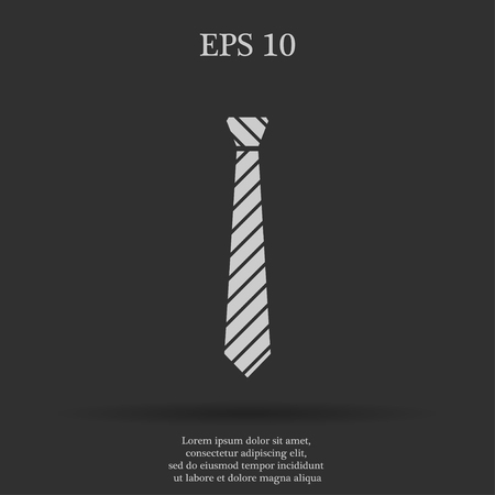 taylor: Simple icon tie. Flat design style eps 10 Illustration