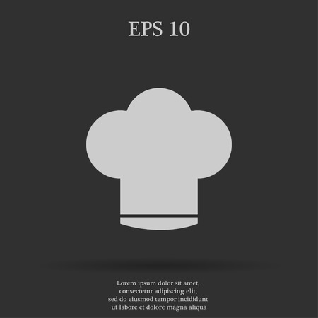 replaceable: Chef cap  vector icon. Flat design style eps 10 Illustration