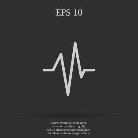 beat: Heart beat, Cardiogram, Medical icon - Vector. Flat design style eps 10