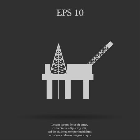oil platform: Oil platform icon. Flat design style eps 10