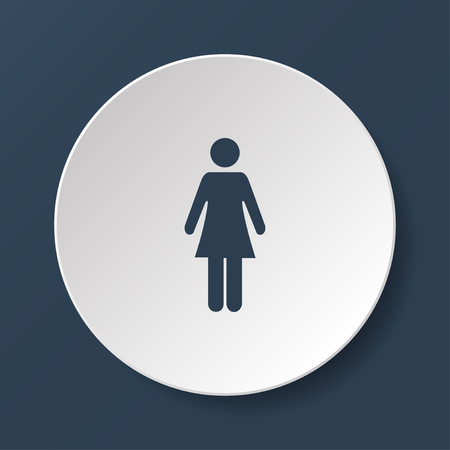 gent's: Woman - vector icon. Flat design style EPS