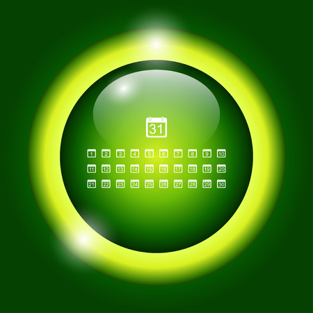 cronologia: Icono de calendario vector plana. EPS estilo Diseño Vectores