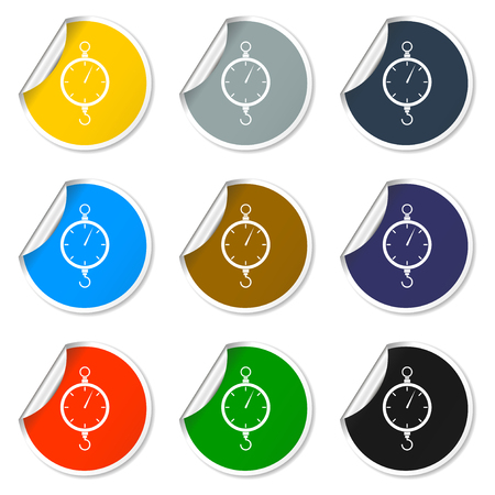 conviction: scales icon. Flat vector design style EPS