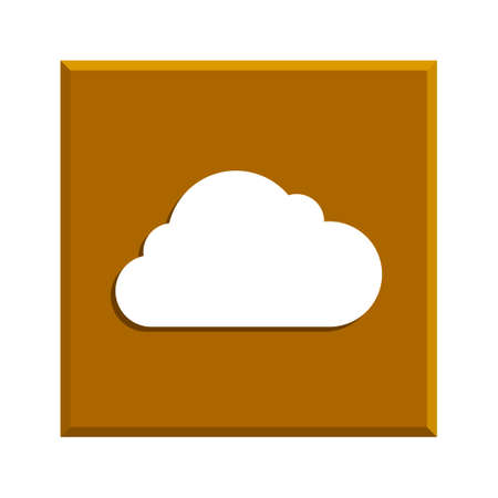 eps vector icon: cloud icon, flat vector illustration. EPS 10 Illustration