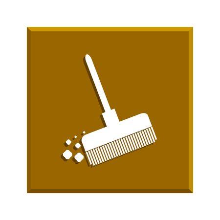 besom: Broom vector icon Flat design style eps 10 Illustration