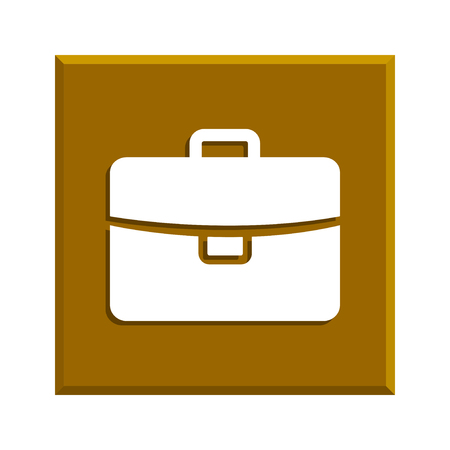 attache: Briefcase icon, Flat vector illustration. EPS 10 Illustration