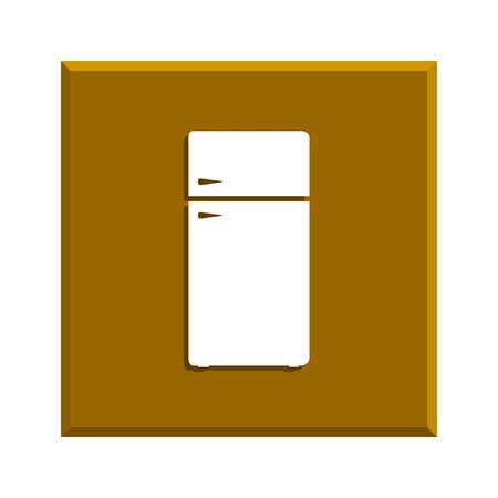 icebox: Icon of refrigerator. Flat design style eps 10