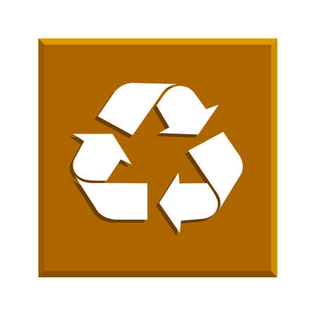 sign in: Recycle sign in white color - isolated. EPS
