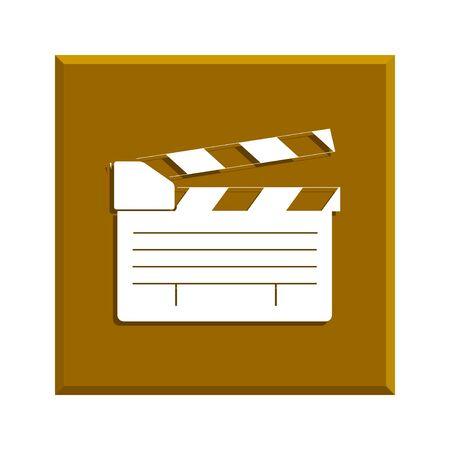 movie clapper: movie clapper board, movie maker vector. Flat design style eps 10