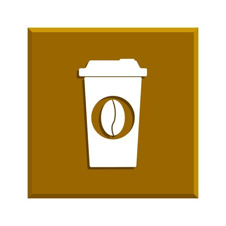 long beans: paper coffee cup. Flat design style eps 10