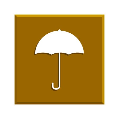 nylon: Umbrella sign icon. Rain protection symbol. Flat design style Illustration