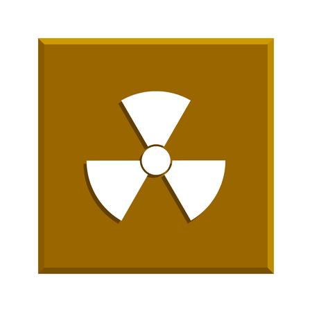 fission: radiation symbol. Flat design style
