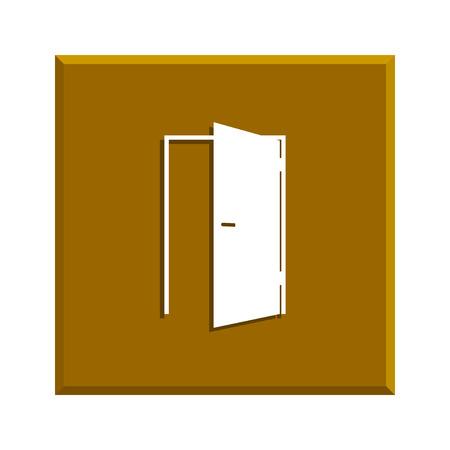 door icon: Door icon. Flat design style