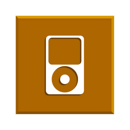 portable player: Portable media player icon. Flat design style.