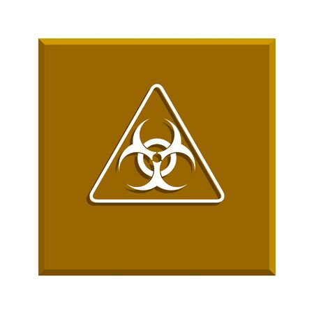 infectious waste: biohazard sign or icon, flat Illustration