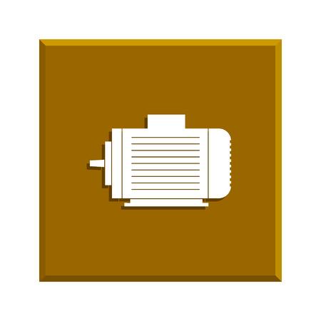 electric motor: Electric motor icon Illustration