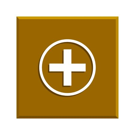 sign in: Medical sign in glossy button