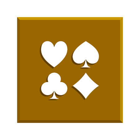 solitaire: Playing Card Suit Icon Symbol Set