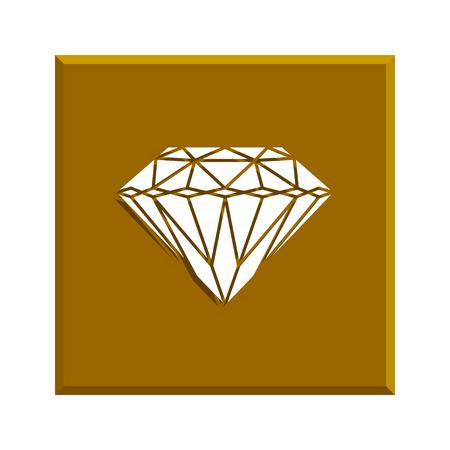 spoil: Diamond icon Illustration