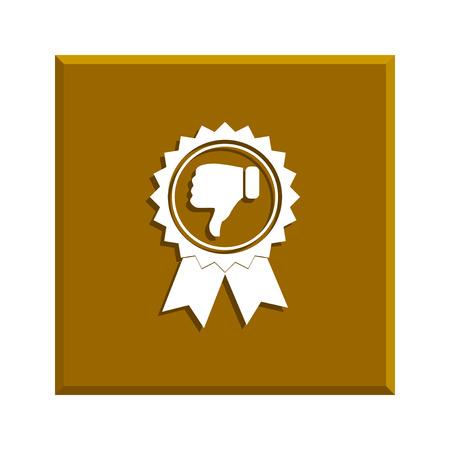 medal like: medallion icon. Flat design style Illustration