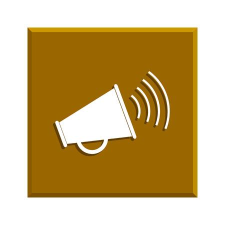 urgent announcement: Megaphone icon. Flat design style