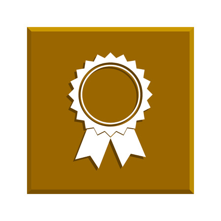 medallion: medallion icon. Flat design style Illustration