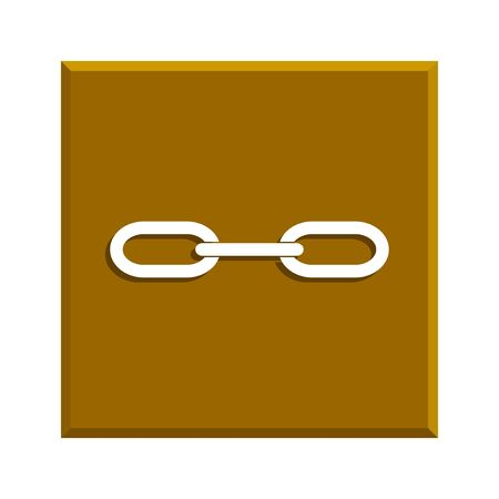 pressure linked: link icon. Flat design style