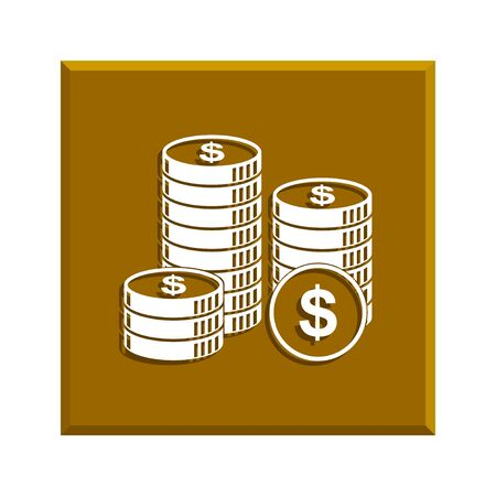 stack of coins: stack of coins icon. Design style Illustration