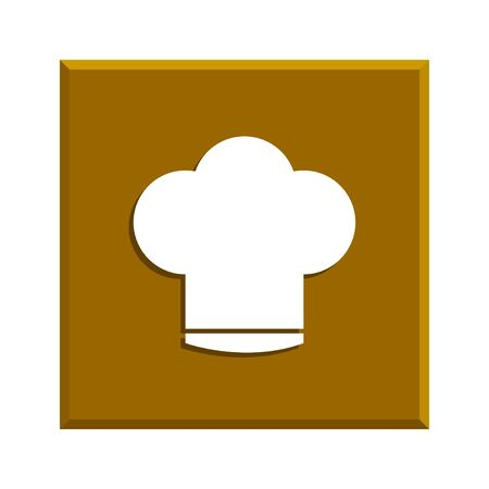 replaceable: Chef cap  icon. Flat design style