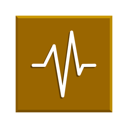 heart beat: Heart beat, Cardiogram, Medical icon . Flat design style