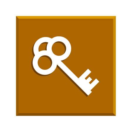 unblock: Key icon. Flat design style